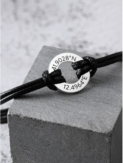 Coordinate Bracelet for Him