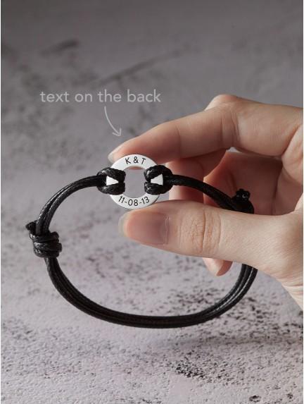 Custom Coordinates Bracelet - Small Washer