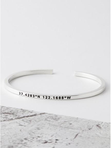 Coordinates Cuff Bracelet