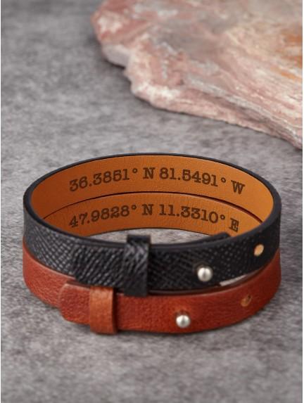 Hidden Coordinates Bracelet For Him