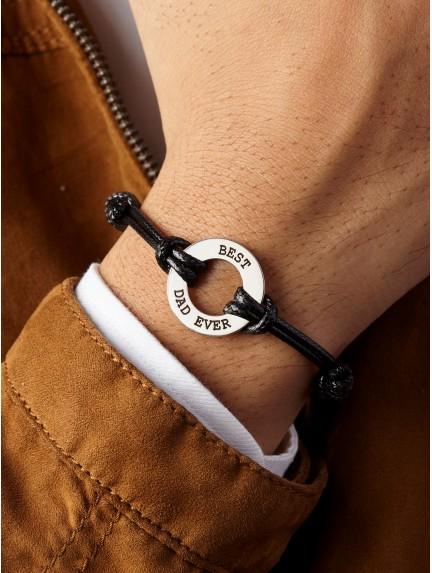 Men's Leather Braided Bracelet for Dad