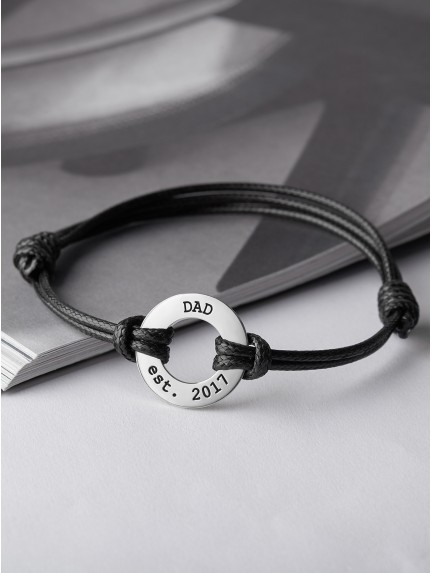 Men's Leather Braided Bracelet for Dad