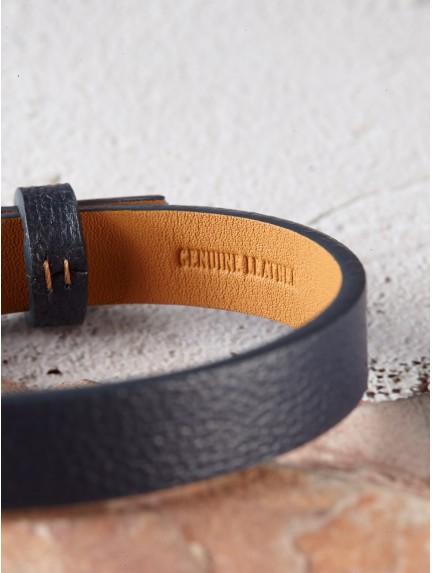 Men's Leather Bracelet - Engraved Dad Bracelet