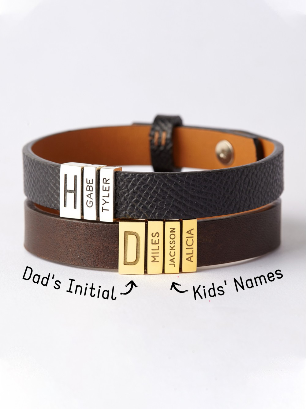 Kids' Name Bracelet For Dad