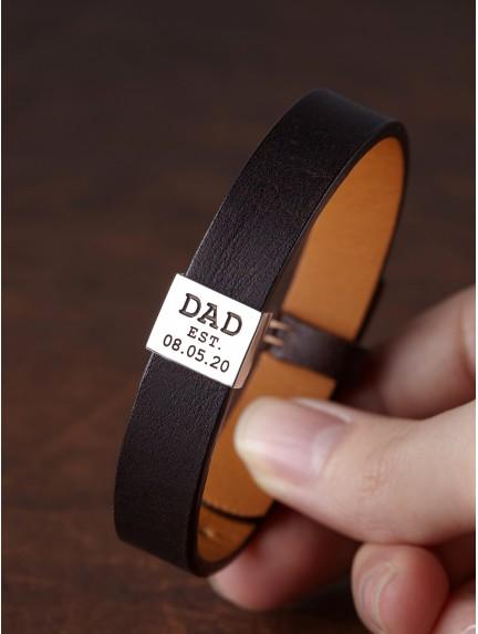Bracelet For New Dad - Dad Est.