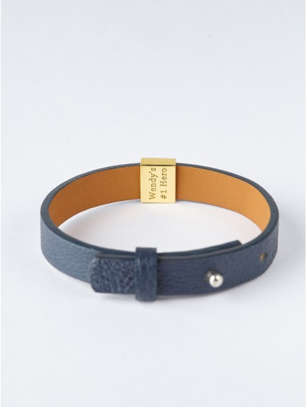 New Dad Bracelet With Baby Initial