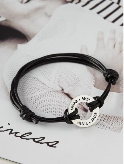 Men's Bracelet With Names - Washer