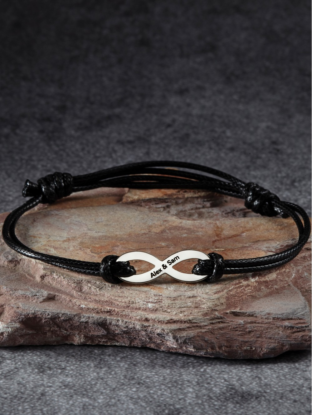Men's Infinity Bracelet with Names