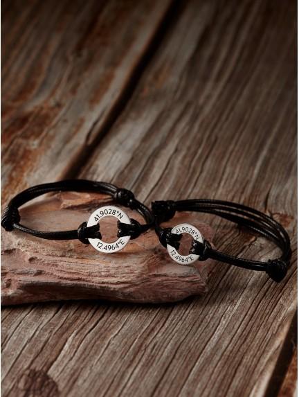 Couple Bracelets - Coordinates