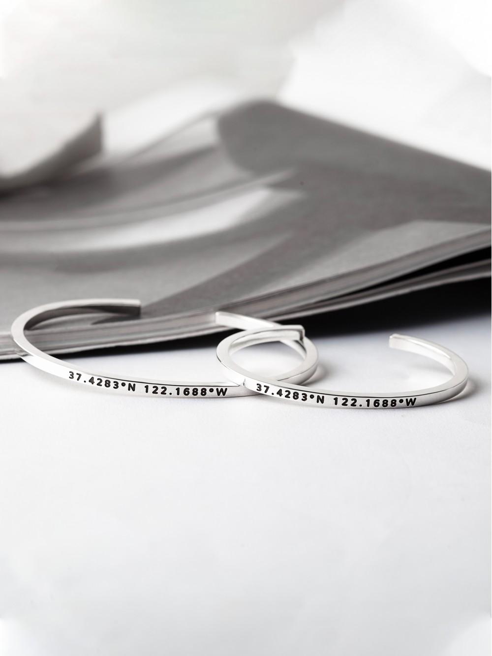 Husband and Wife Bracelets - Coordinates
