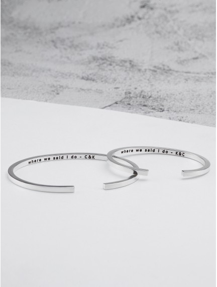 Husband and Wife Bracelets - Coordinates
