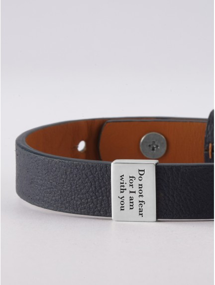 Men's Christian Bracelet - Personalized Leather Faith Bracelet