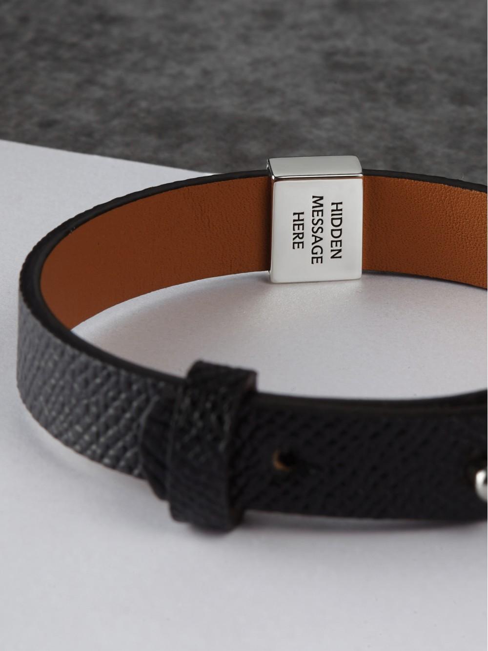 Men's Secret Message Leather Bracelet