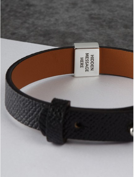 Men's Secret Message Leather Bracelet