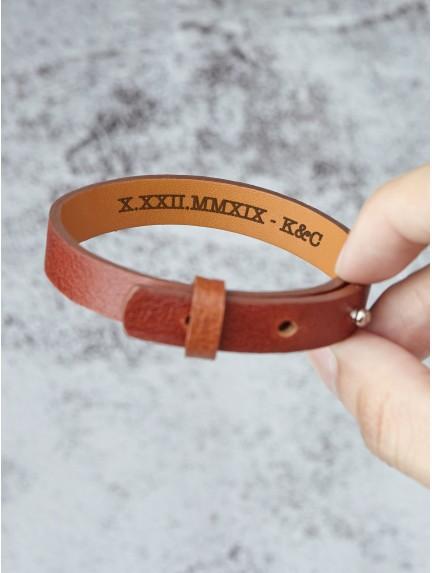 Hidden Roman Numerals Bracelet For Him