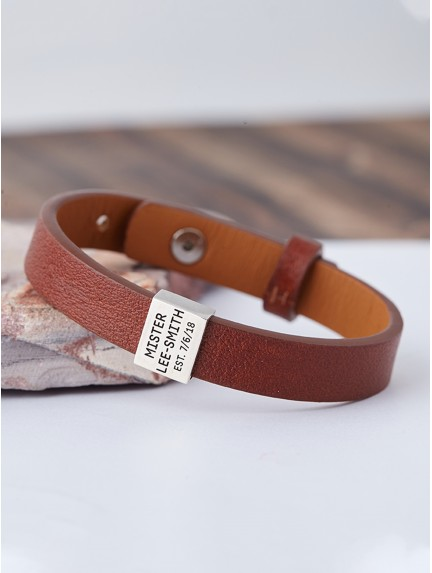 Wedding Gift for Groom - Leather Bracelet