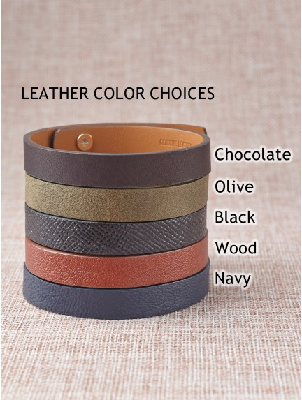 Leather Hidden Message Bracelet