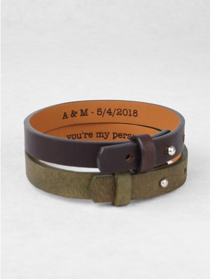 Leather Hidden Message Bracelet