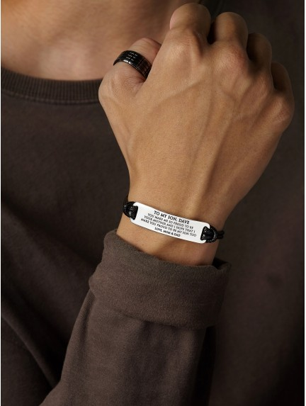 Personalized Bracelet For Son