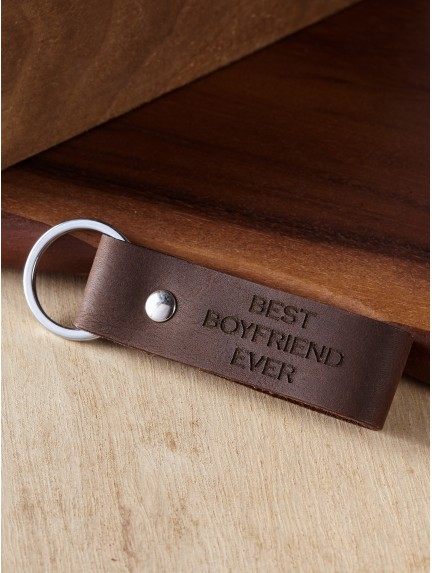 """Best Boyfriend Ever"" Personalized Keychain for Boyfriend"