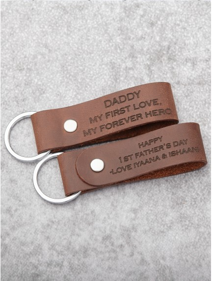 Father's Day Keychain - Dad My First Love