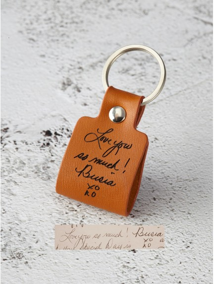 Handwriting Keychain for Him - For Longer Message