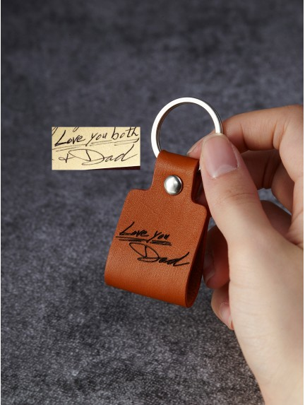 a151a06885b81 Handwriting Keychain for Him - For Longer Message.  25.00.