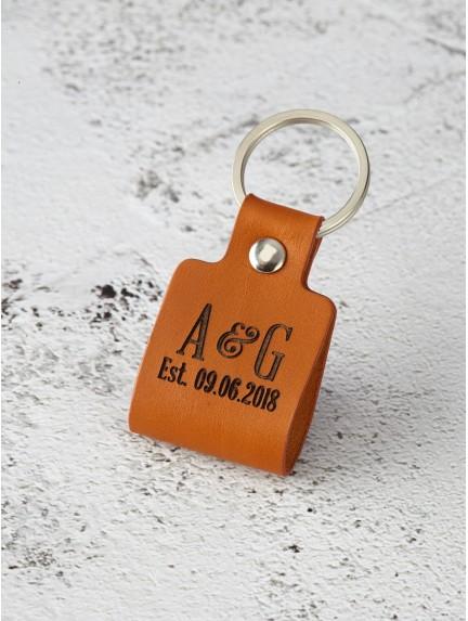 Couple Initials Keychain for Boyfriend