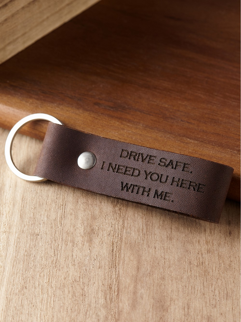 Personalized Keychain for Him - Drive Safe Keychain | Rugged