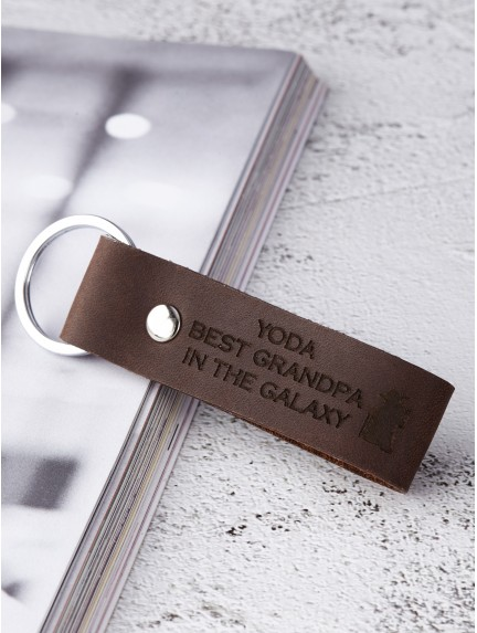 Personalized Grandpa Keychain - Star Wars YODA Best Grandpa