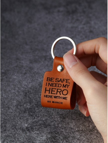 Be Safe Keychain Gift for Deployed Soldier or Firefighter