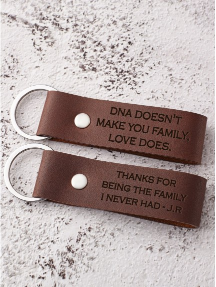 Thank You for Loving Me as Your Own - Keychain for Step Dad