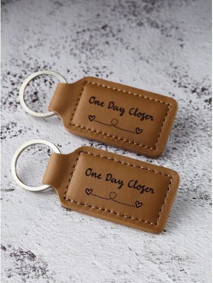 Long Distance Relationship Keychains - One Day Closer