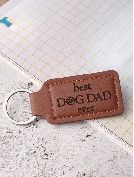 Personalized Keychain For Pet Dad