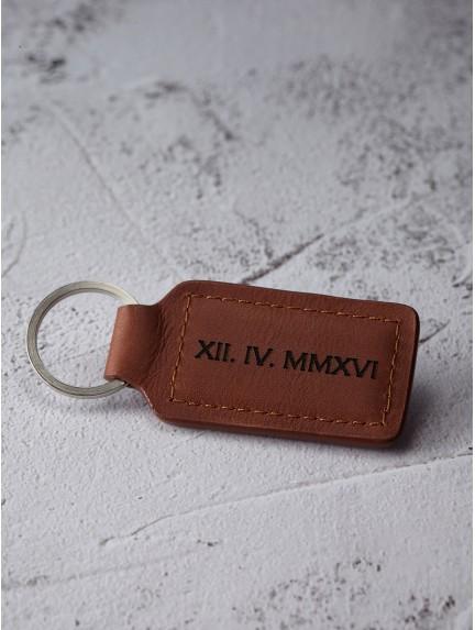 Date Keychain - Roman Numerals