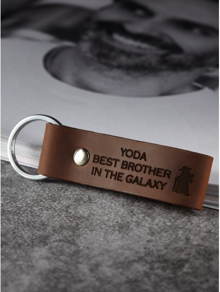 Star Wars Keychain for Brother - Yoda Best Brother