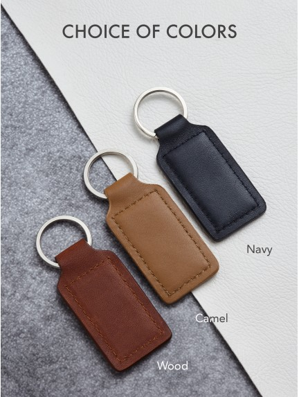 Personalized Leather Keychain For Son