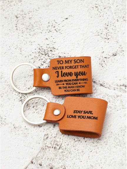 Personalized Son Gift Keychain