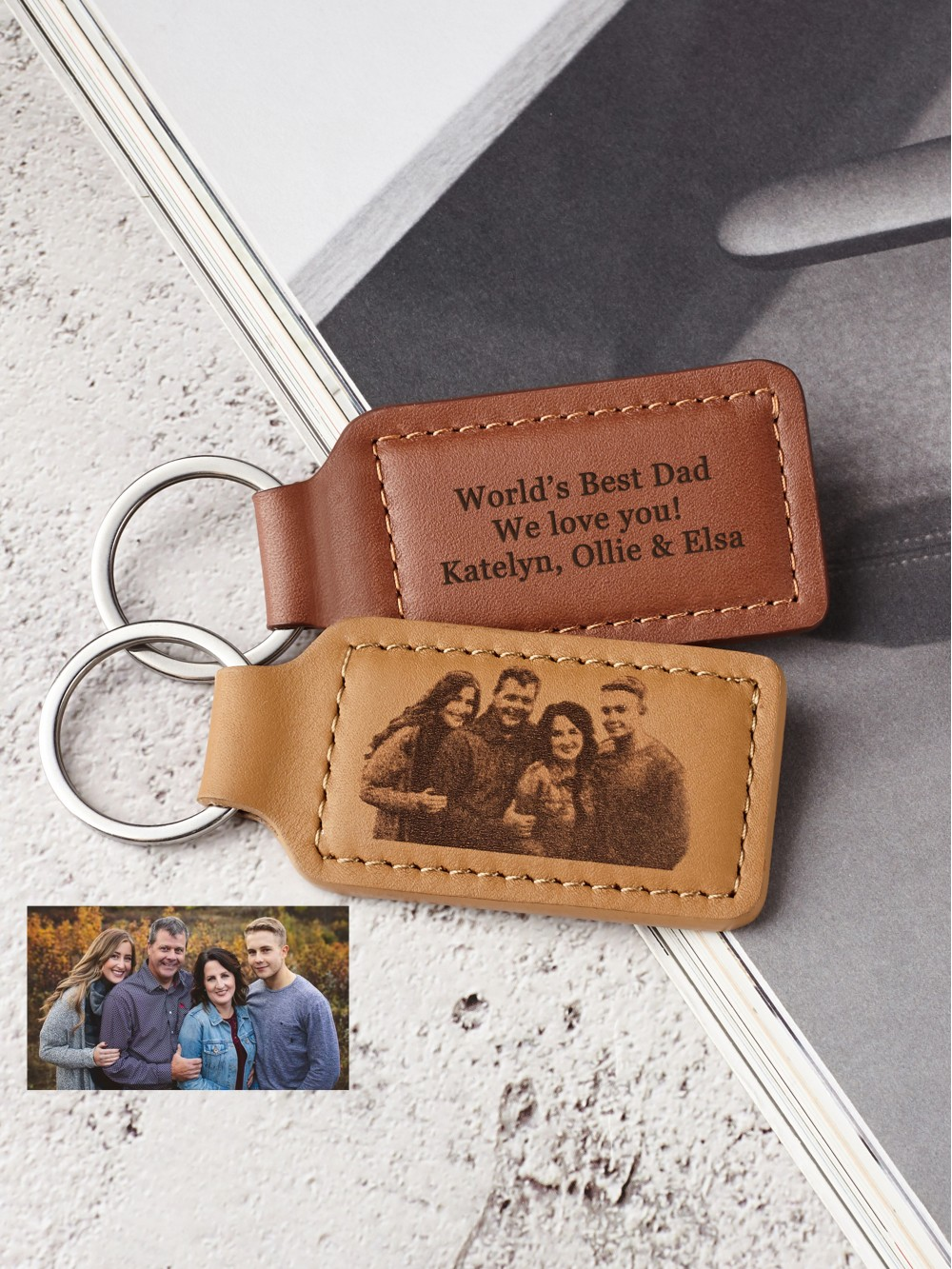 Family Photo Keychain