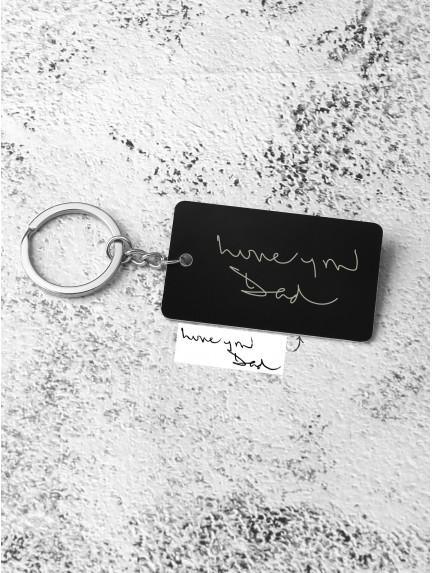 Kid Handwriting Keychain - Aluminium