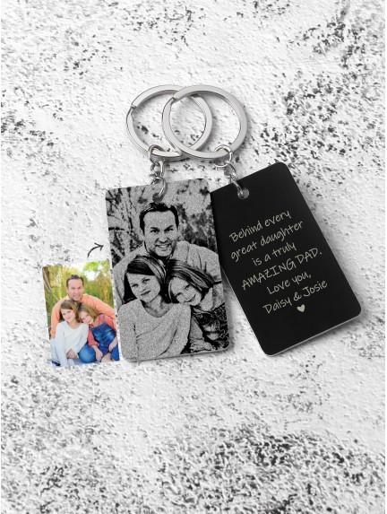 Photo Aluminium Keychain for Dad