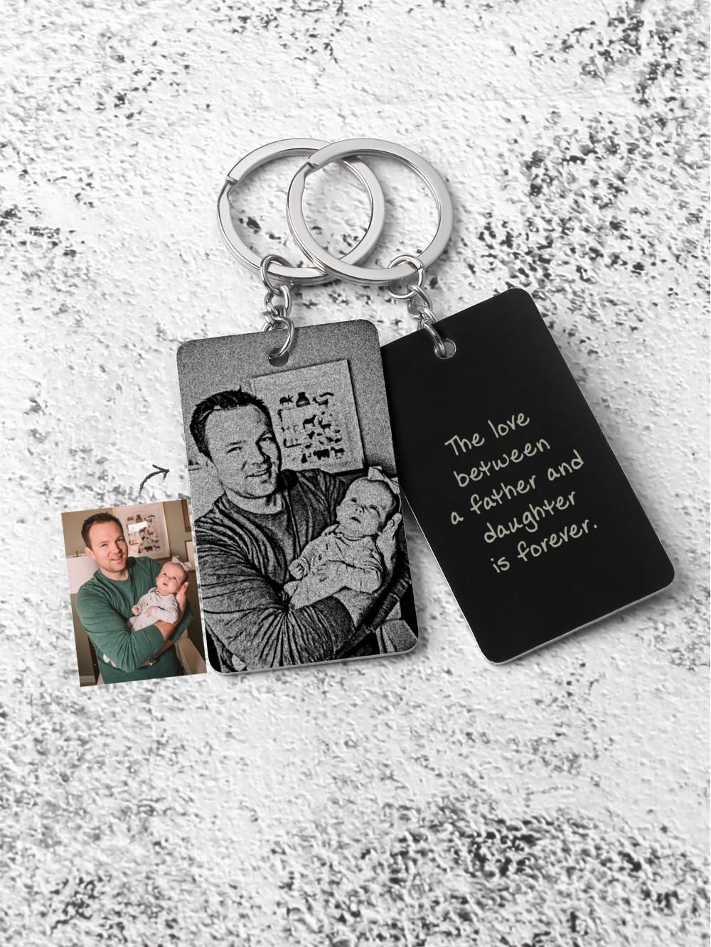 Photo Aluminium Keychain for New Dad