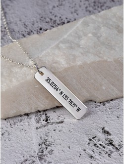 Coordinates Necklace for Men
