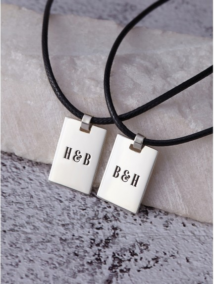 Her One His Only Necklaces - Leather Cord