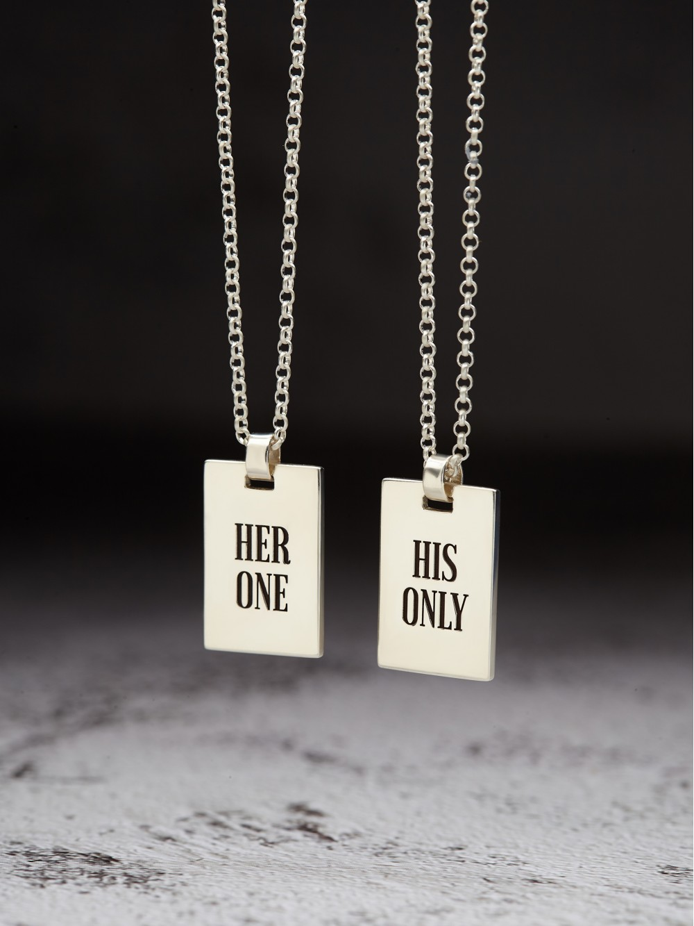 Her One His Only Necklaces for Couples