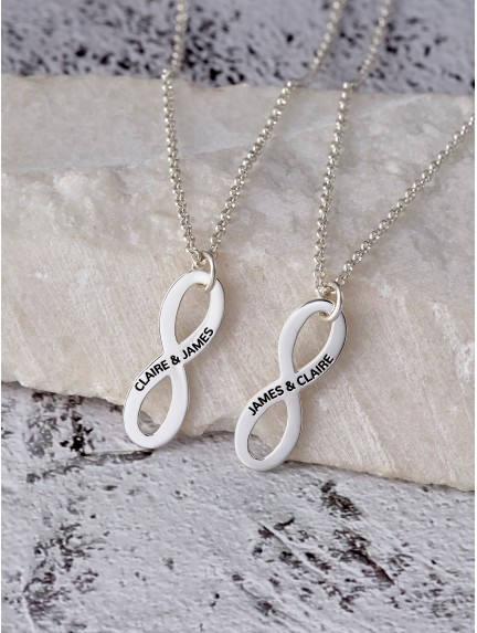 Infinity Promise Necklaces for Couples