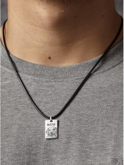 Pet Photo Necklace For Men