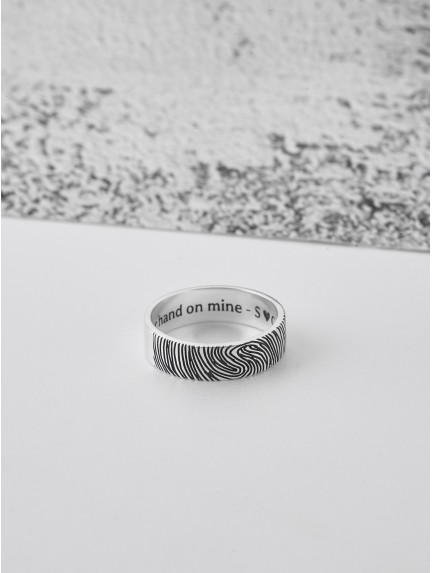 Fingerprint Men's Ring