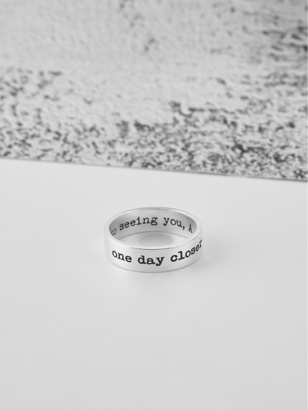 One Day Closer Ring - Long Distance Gift for Him