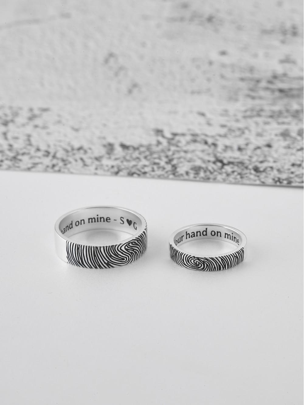 Fingerprint Couple Rings